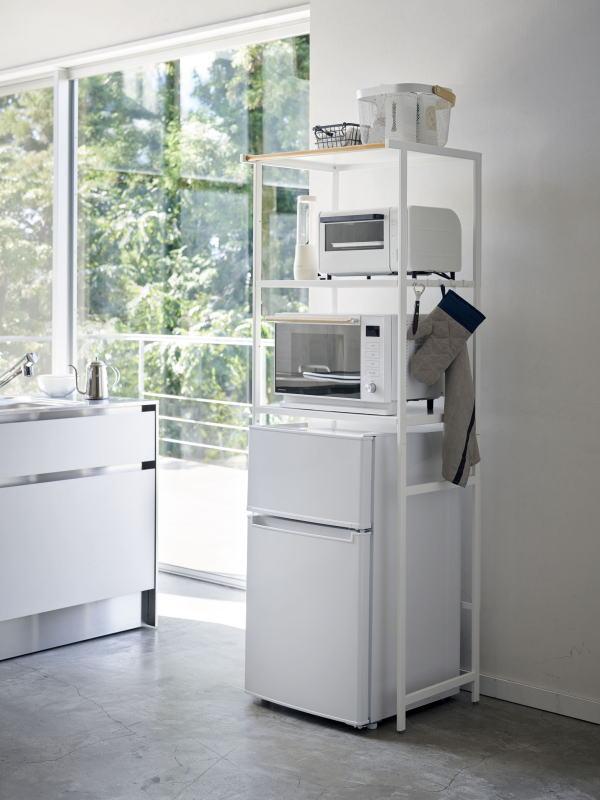 tower 組立式 冷蔵庫上ラック タワー ホワイト