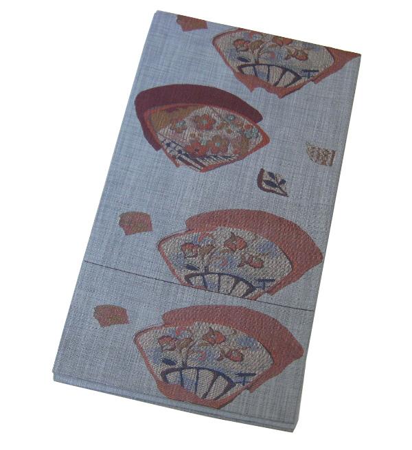 【新品】 六通柄 おしゃれ袋帯(正絹)