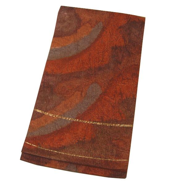 【新品】 六通柄 ふくらし織 高級袋帯 (正絹)
