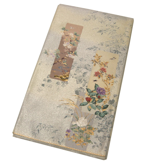 【中古】中古美品 六通柄 高級袋帯(正絹)