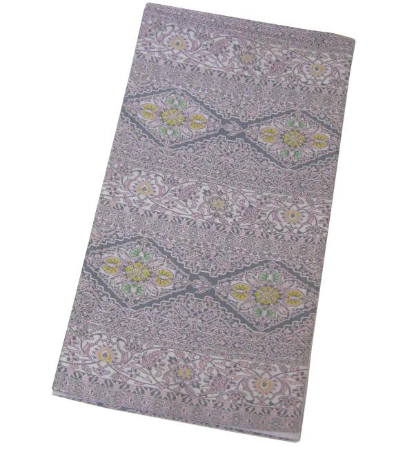 美品 山喜織物 萬葉 全通袋帯 正絹4A5Lq3Rj