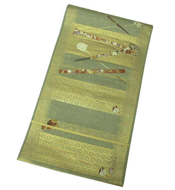 【新品】 六通柄 高級袋帯 (正絹)