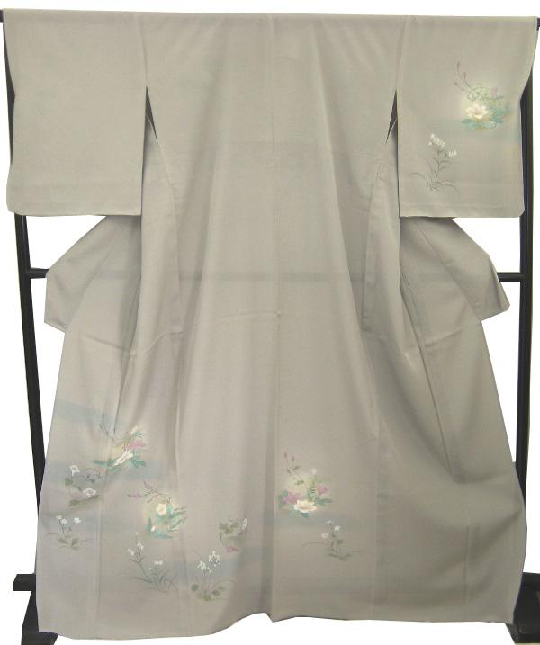 【新品】 夏用 女単衣 絽 附下げ着物(正絹)