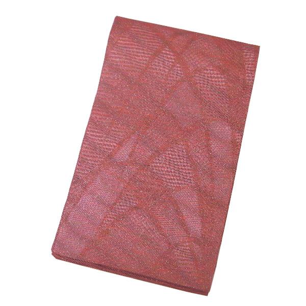 【中古】中古美品 夏物 全通柄 紗絽 袋帯(正絹)