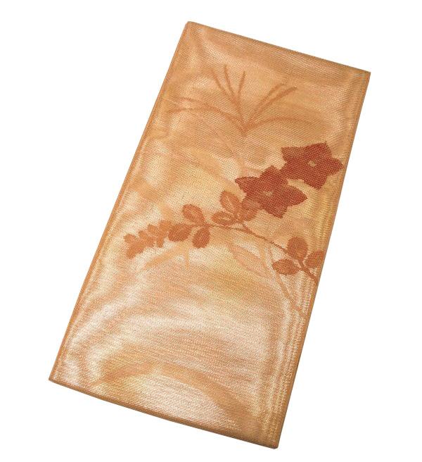 【新品】夏物 太鼓柄 三重紗 袋帯(正絹)