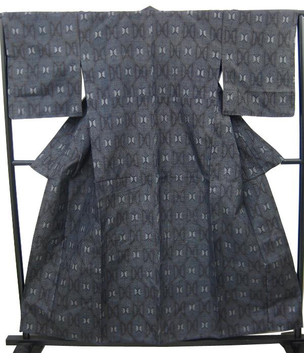 【新品】 女単衣 紬着物(正絹)
