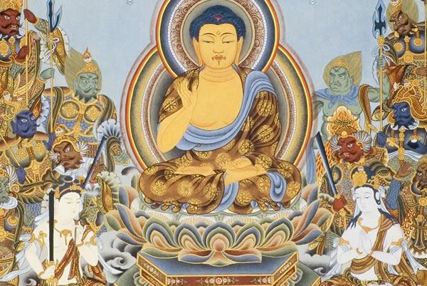 楽天市場】仏画ポスター 釈迦と十六善神:仏像仏画チベット美術卸の天竺堂