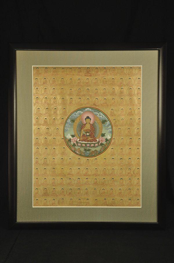 肉筆仏画 釈迦千体仏