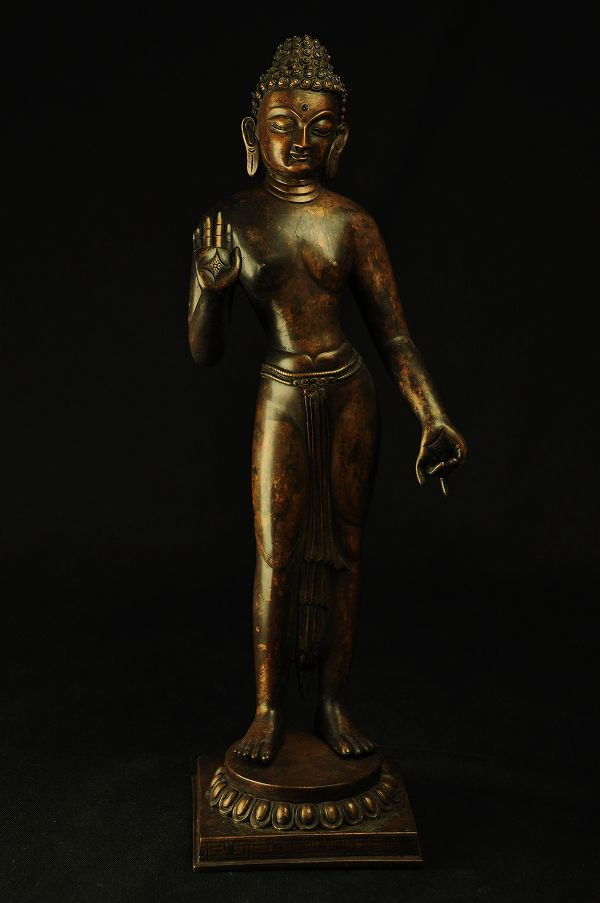 100%の保証 釈迦如来立像 銅造彫金仕上げ, 伊那市 18e23aed