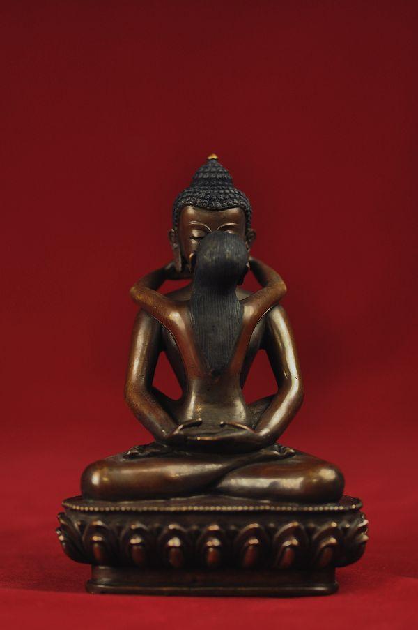 歓喜仏(ヤブユム)銅造彫金仕上げ