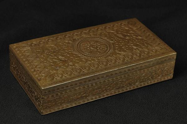 経筺 銅造彫金仕上げ