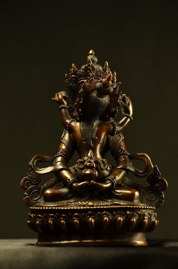阿弥陀シャクティ(歓喜仏)銅造彫金仕上げ