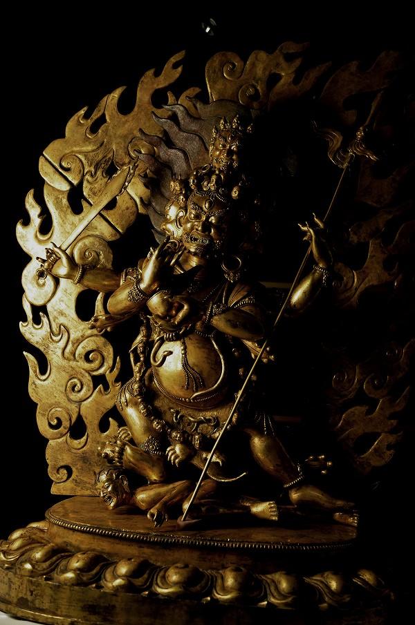 大黒天(マハカーラ) 銅造鍍金彫金仕上げ