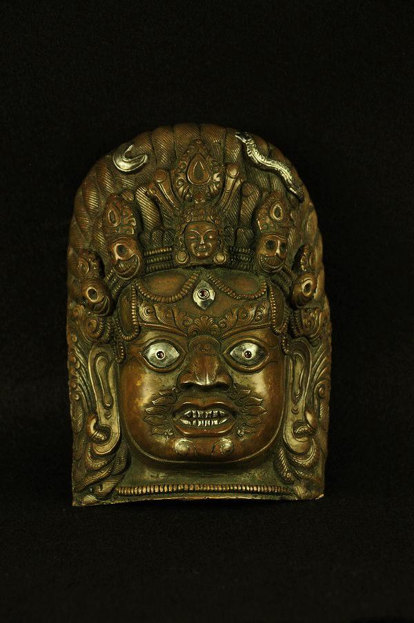 銅製銀象嵌 バイラヴァ面バイラヴァ面 銅製銀象嵌, 八尾市:56a5761a --- sunward.msk.ru
