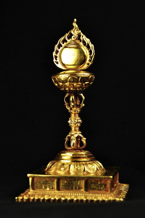如意宝珠 銅造鍍金彫金仕上げ