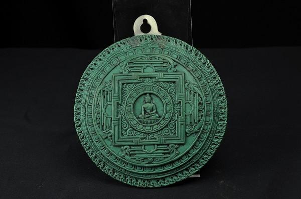 石仏 曼荼羅 (緑青色仕上げ)
