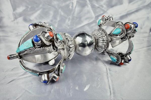 ヴァジュラ(五鈷杵)銀製