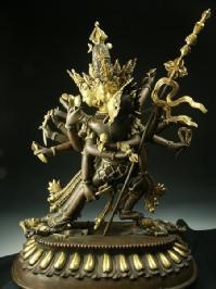 チャクラサンバラ 銅造鍍金彫金仕上げ 一点もの