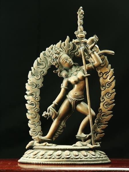 ダーキニー(荼吉尼天) 銅造彫金仕上げ 一点もの