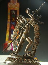 仏像 ダーキニー 銅造彫金仕上げ 一点もの