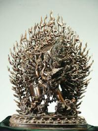 大威徳明王 銅造彫金仕上げ