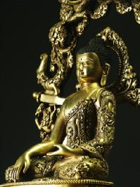 釈迦如来 銅造鍍金彫金仕上げ 一点もの