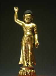 釈迦誕生仏 銅造鍍金彫金仕上げ 一点もの