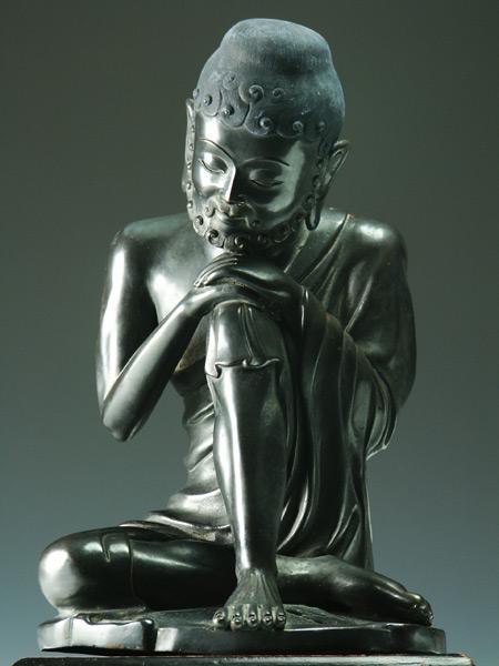 釈迦如来 銅造彫金仕上げ 一点もの