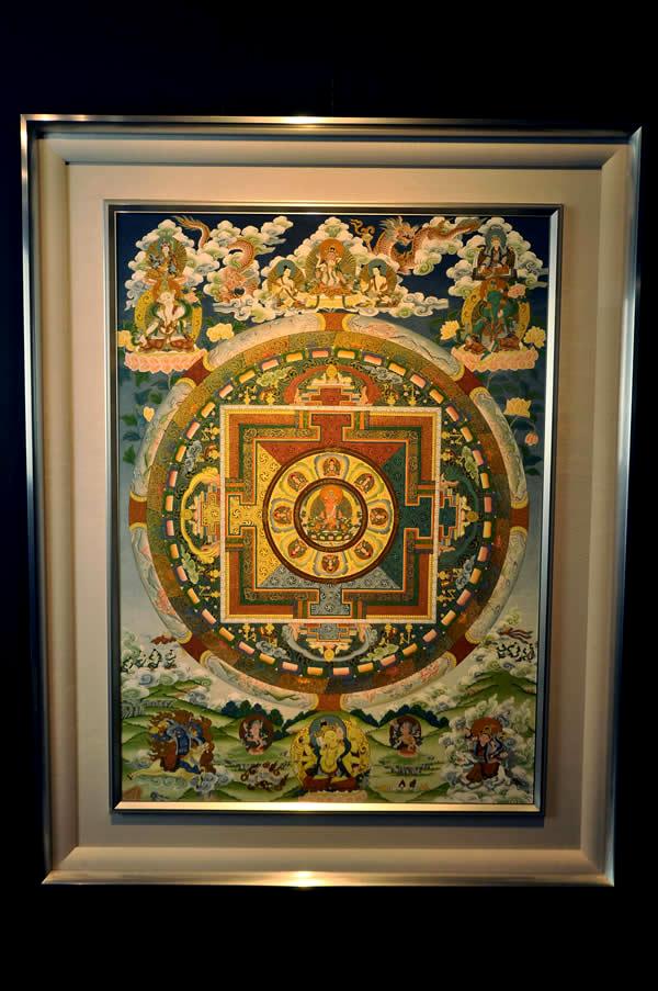 肉筆仏画 阿弥陀曼荼羅