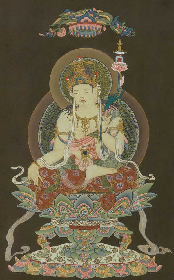 肉筆仏画 弥勒菩薩