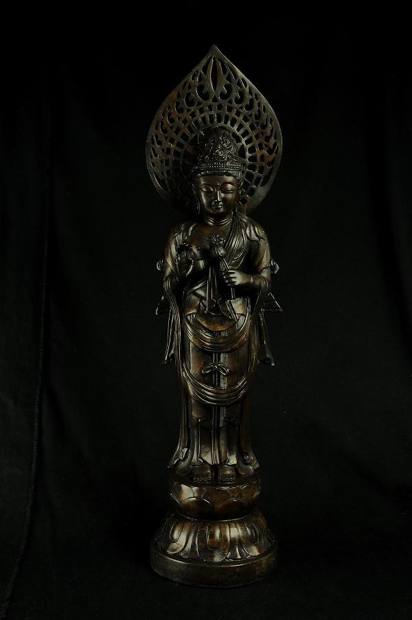 仏像 聖観音(光背付)