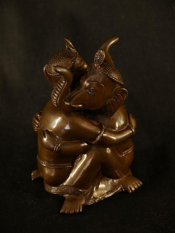 歓喜聖天(座) 銅造彫金仕上げ