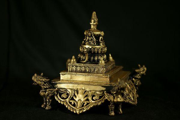 仏塔(ストゥーパ) 黄銅製