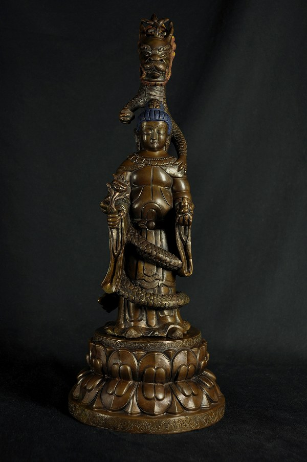 虚空蔵菩薩 銅造彫金仕上げ