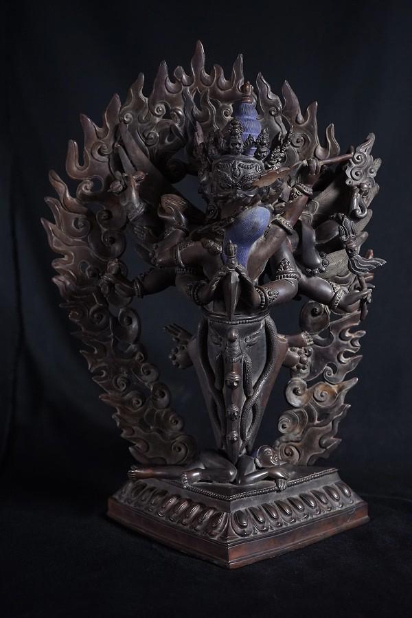 プルパ 守護尊歓喜仏 銅造彫金仕上げ