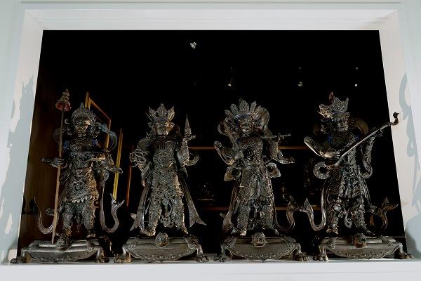 四天王(4尊1組)銅造彫金仕上げ