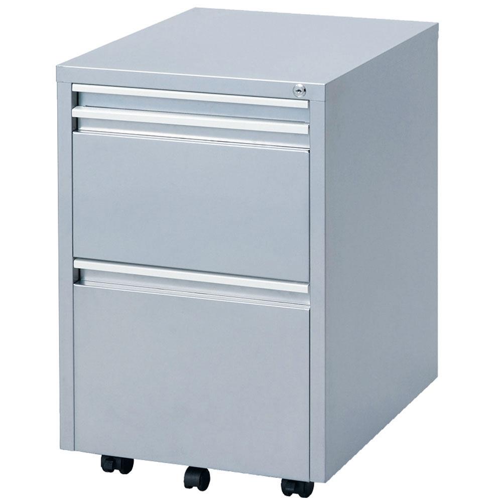 キャビネット スチールキャビネット サイドワゴン 書類棚 キャスター付き スライドテーブル付き コンパクト RWX-F520