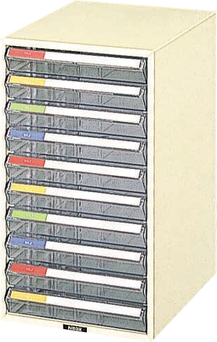 収納ボックス レターケース 書類ボックス 収納ケース 書類ケース 引き出し 書類収納 スチール LC-10P