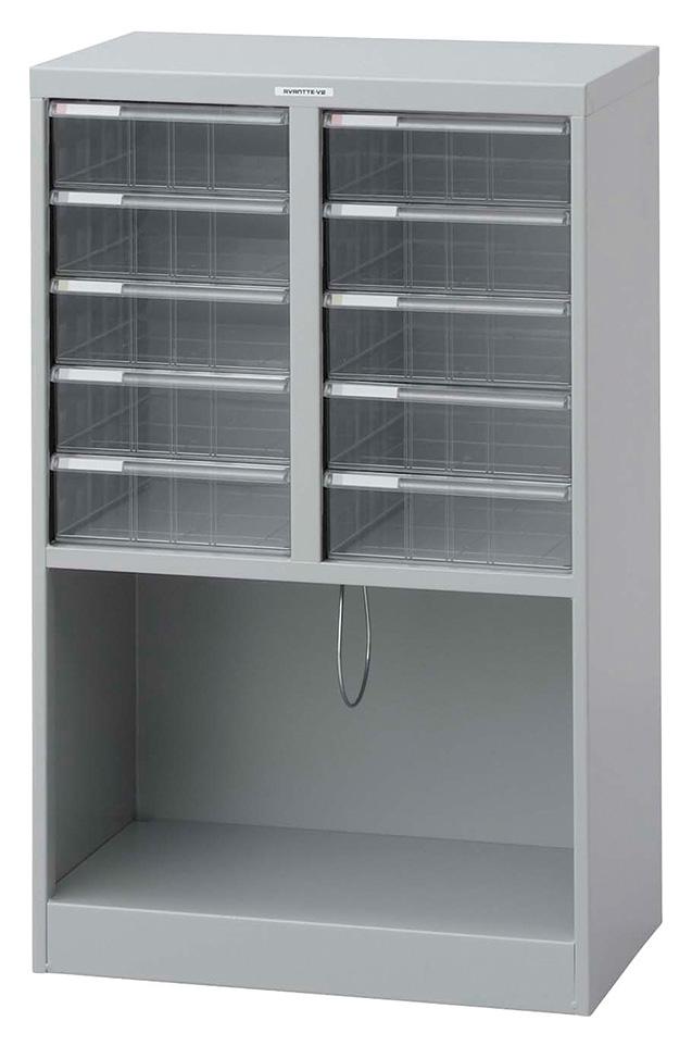 収納ボックス フロアケース 書類ボックス 収納ケース 書類ケース 引き出し 書類収納 スチール AF-M10 ニューグレー