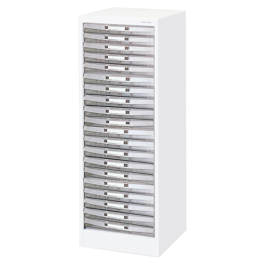 収納ボックス フロアケース 書類ボックス 収納ケース 書類ケース 引き出し 書類収納 スチール AF-W20 シロ