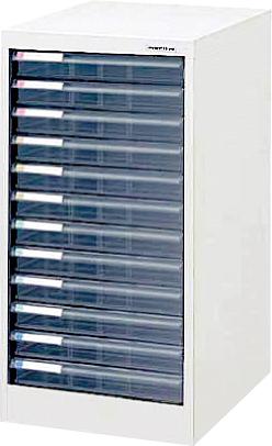 収納ボックス フロアケース 書類ボックス 収納ケース 書類ケース 引き出し 書類収納 スチール AF-12 シロ