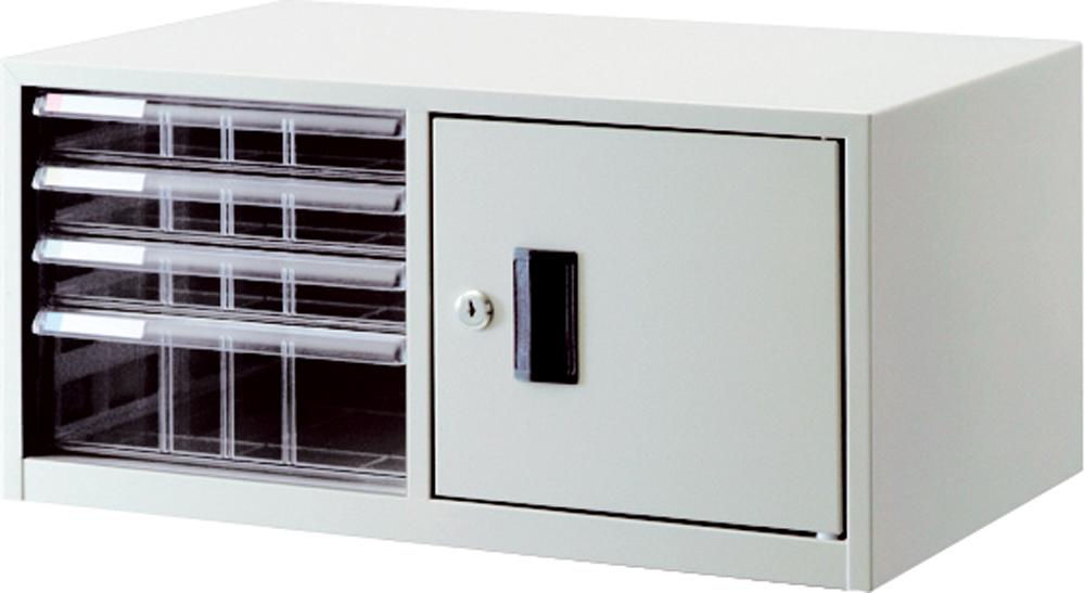 収納ボックス レターケース 書類ボックス 収納ケース 書類ケース 引き出し 書類収納 スチール 鍵付き AL-T44 ニューグレー