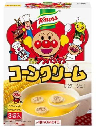 Ajinomoto Knorr it soreike anpanman corn cream 19.2 g × 3 bags 48 pieces [soup powder type cracker クビスケット with knorr]