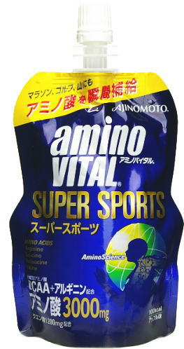30 100 g of Ajinomoto amino by Tal jelly SUPERSPORTS pouches case [aminovital supermarket sports]