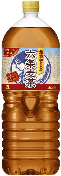 6 *2 Asahi Article 6 barley tea 2L pet Motoiri bulk buying [ろくじょうむぎちゃむぎ tea non caffeine]