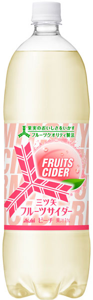 朝日三矢水果汽水桃子1.5L宠物8条装