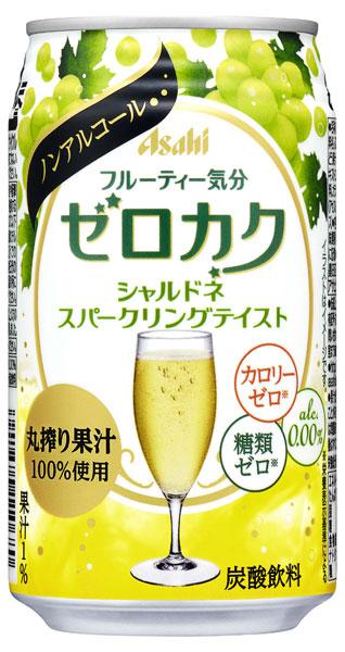 Asahi ゼロカク シャルドネスパークリングテイスト 350 ml cans 24 pieces [non-alcoholic cocktails 0.00% zero sugar zero]