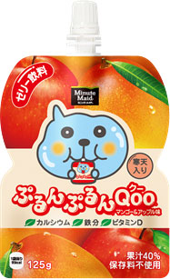 Drink] with 125 g of 30 Coca-Cola Minute Maid ぷるんぷるん Qoo( クー) mango & apple taste pouch Motoiri [jelly drink fruit juice