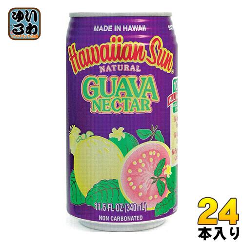 送料無料 一部地域除く ハワイアンサン 25%OFF グアバネクター 缶 24本入 〔果汁飲料〕 340ml 割引も実施中