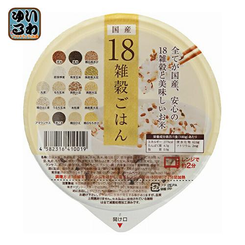 〔クーポン配布中〕アイズ 国産18雑穀ごはん 160g 36個入×2 まとめ買い〔レトルトごはん ご飯〕